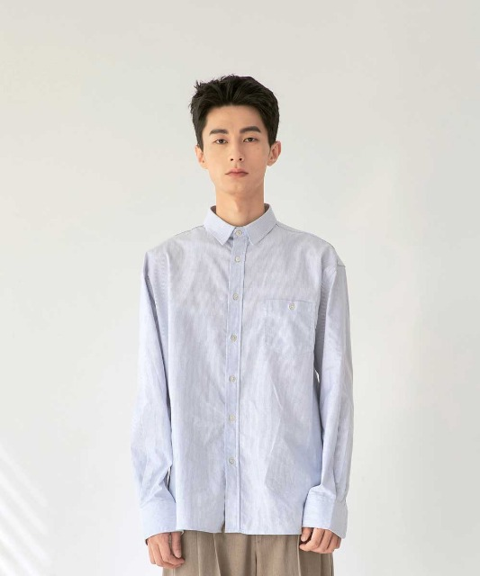 [노운] standard oxford shirt (stripe)