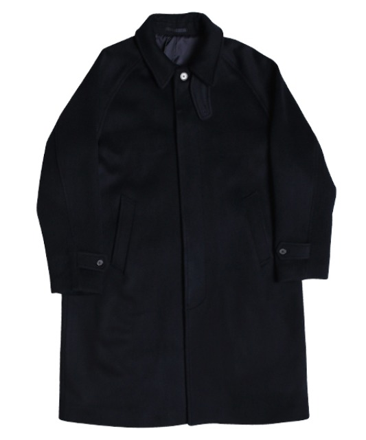 [스테디에브리웨어] Balmacaan Coat (Dark Navy)