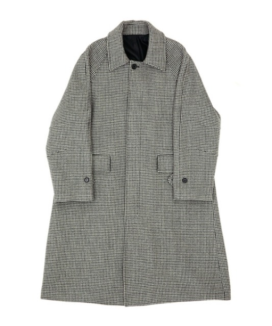 [알렌느] GREYCHECK wool 3D detail balmacancoat(MJ704)