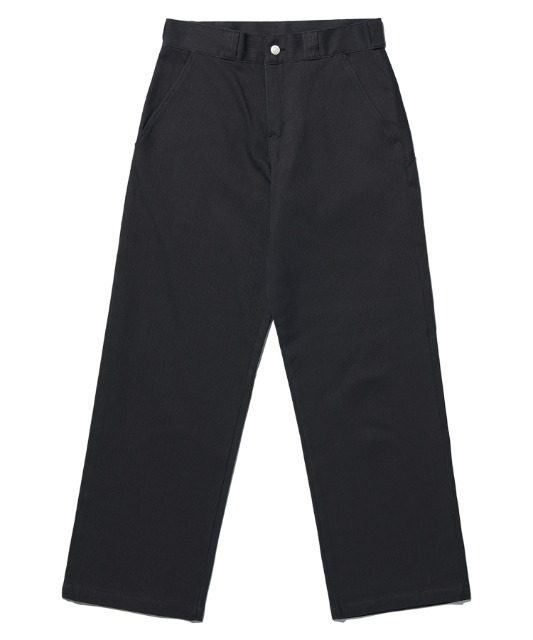 [노매뉴얼] STRIPED WORK PANTS - CHARCOAL