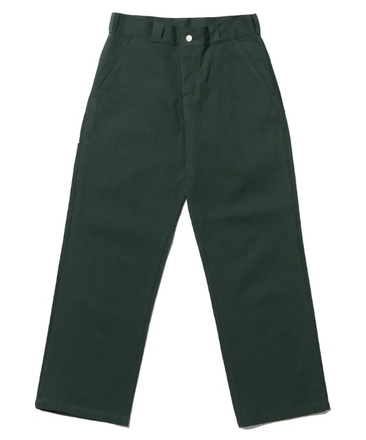 [노매뉴얼] STRIPED WORK PANTS - GREEN