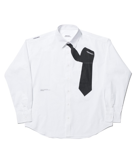 [노매뉴얼] NECKTIE SHIRT - WHITE