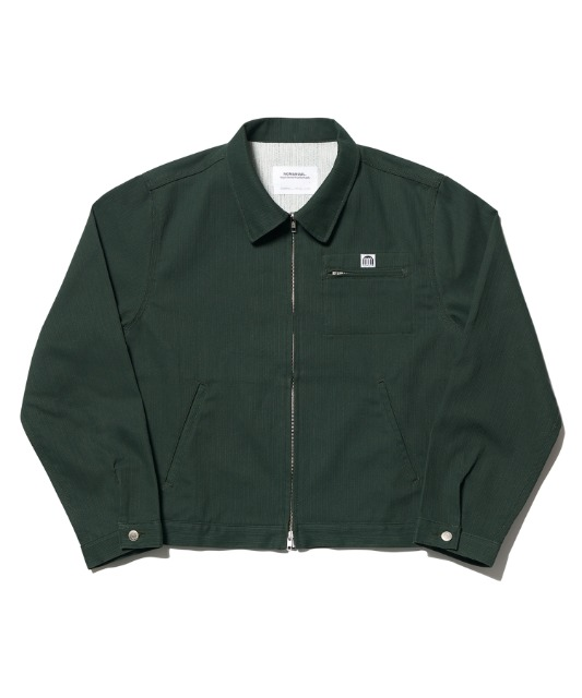 [노매뉴얼] STRIPED WORK JACKET - GREEN