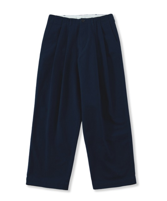 [퍼렌] wide chino trousers_navy blue