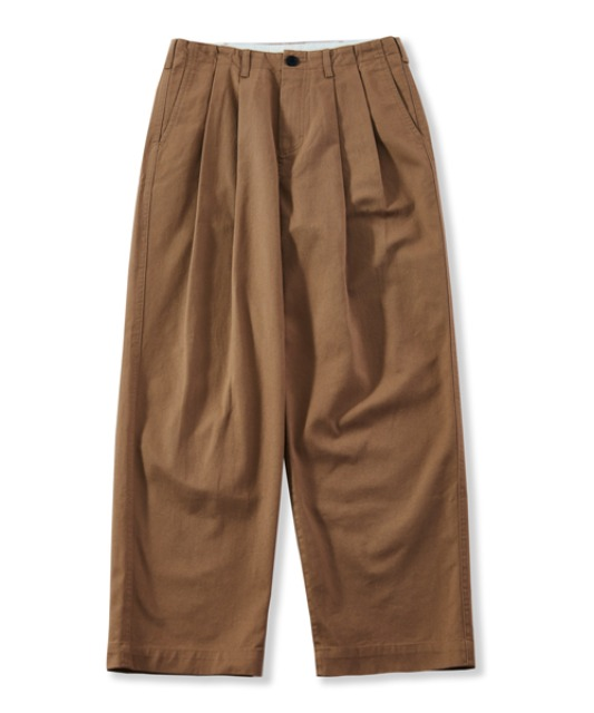 [퍼렌] wide chino trousers_camel beige