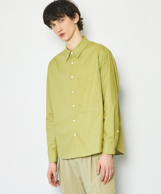 [밈더워드로브] SOLID Natural Cotton Shirt_Avocado