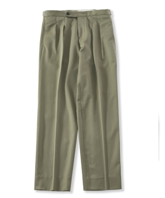 [퍼렌] 21'SS 2pleats trousers(set-up)_olive beige