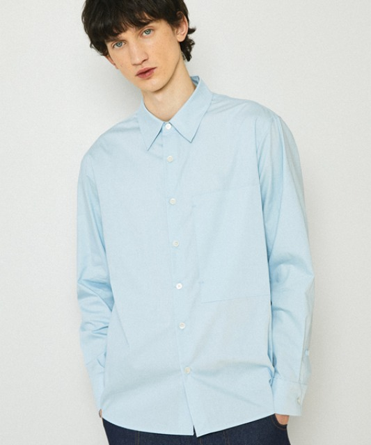 [밈더워드로브] SOLID Natural Cotton Shirt_Light Blue