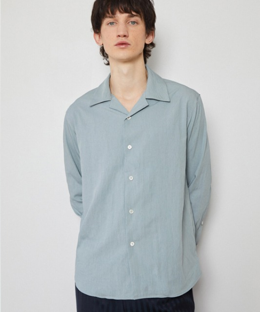 [밈더워드로브] CRINKLE Comfortable Shirt_Sky Blue