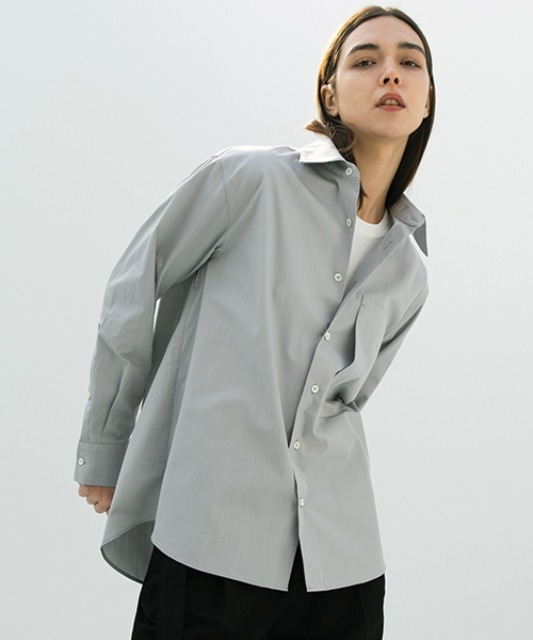 [밈더워드로브] SOLID Natural Cotton Shirt_Grey
