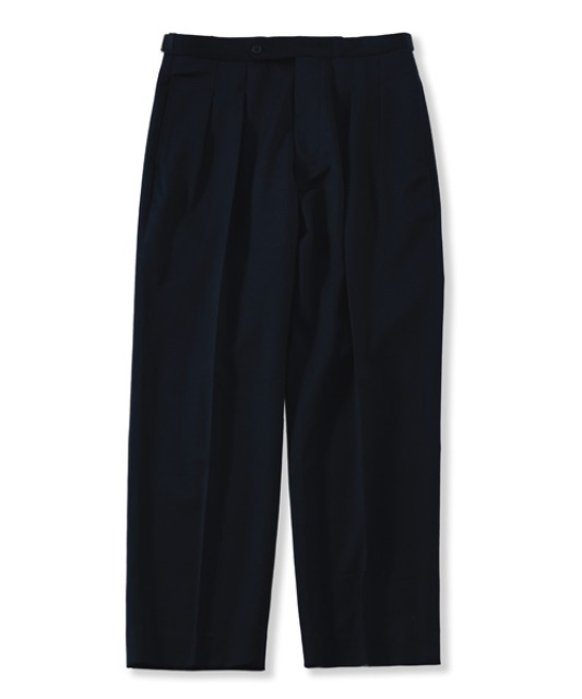 [퍼렌] 21'SS 2pleats trousers(set-up)_deep navy