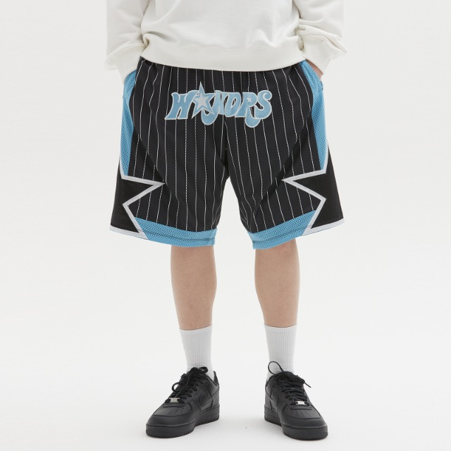 [위캔더스] STRIPED PLAYER SHORTS (BLACK)
