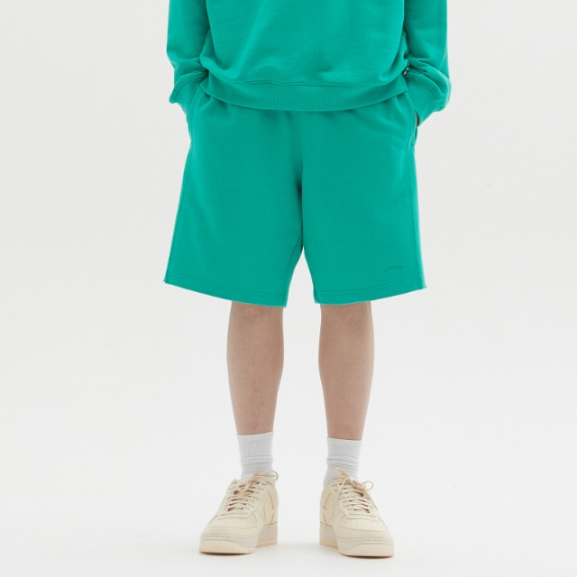 [위캔더스] RAW EDGE SWEAT SHORT (GREEN)