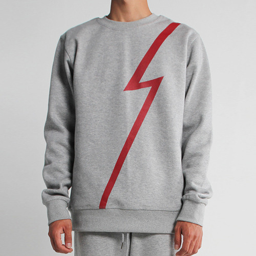 [사파리]lightning crew neck shirt