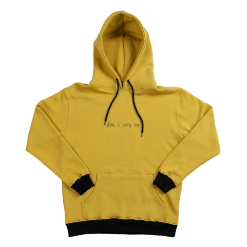 [더블유에이엘디]WALD What a lovely day Logo Hoodie Mustard/Black