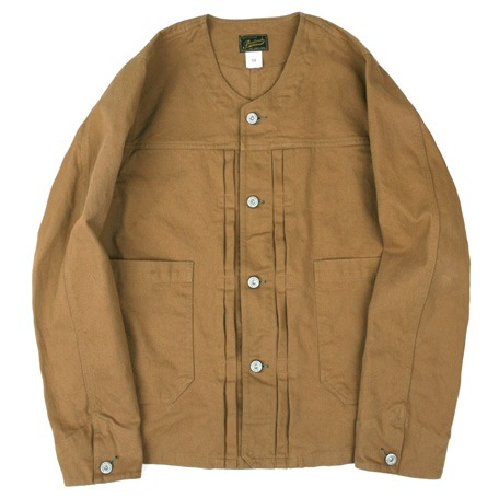 [스웰맙]Swellmob collarless work blouson-camel-