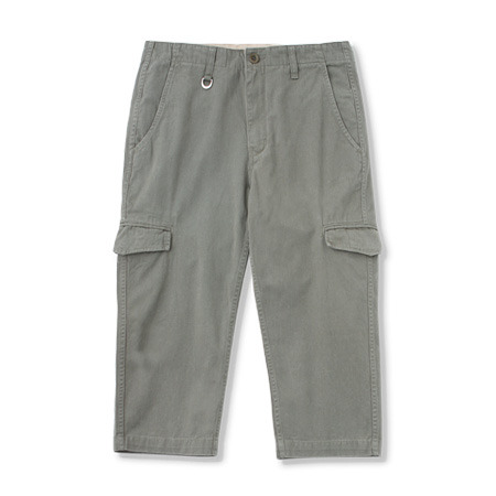 [커버낫]CROPPED COTTON TWILL PANTS OLIVE