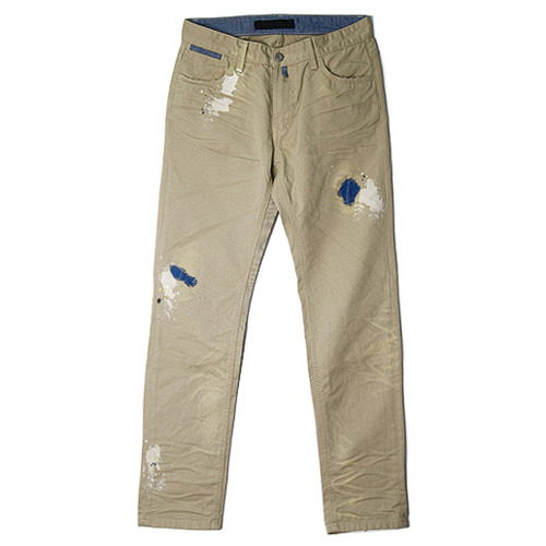 M#0051 cotton washing three patche pants