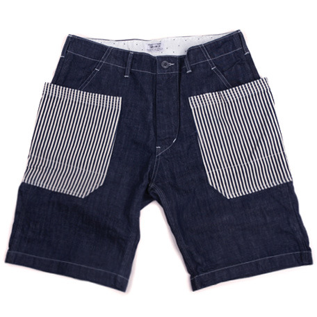 Swellmob double side pocket shorts -hickory stripe-