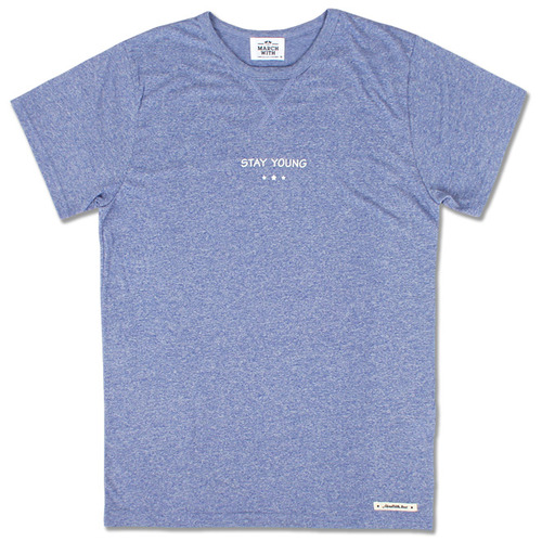 SOFT MELANGE TEE Blue