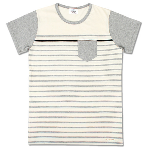 BOARDER POCKET TEE Gray