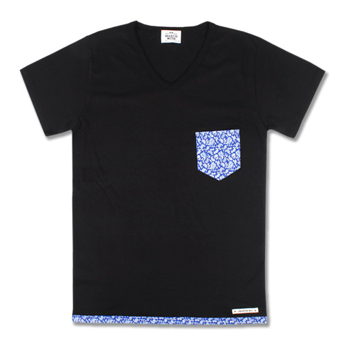 PAISLEY V-Neck TEE Black