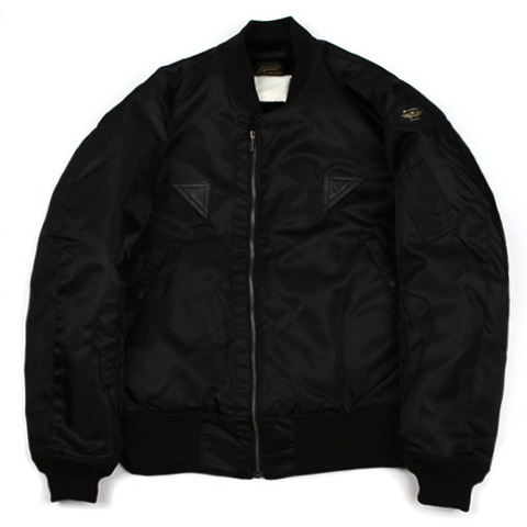 Swellmob thunders flight jacket -black shine-