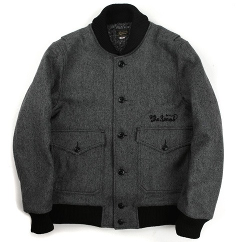Swellmob wool flight jacket -ash grey-