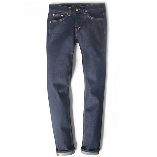 M#0252 indigo rigid denim