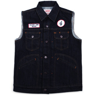 Swellmob biker vest -denim-
