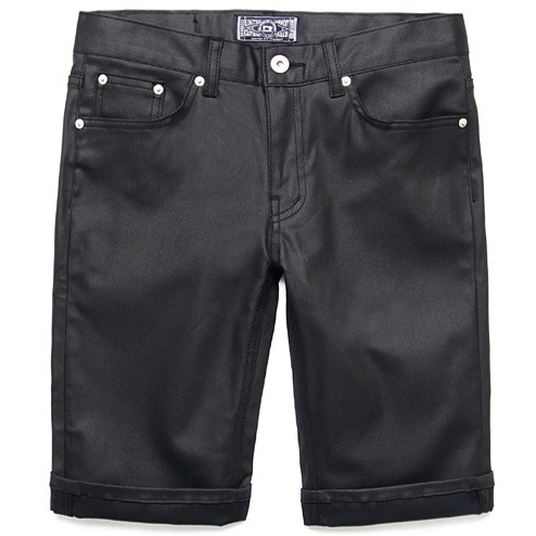 M#0339 1/2 black coating pants