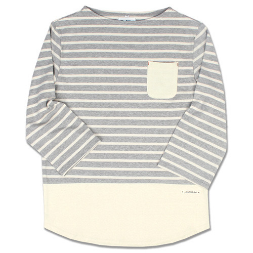BLOCK BASQUE SHIRTS Gray&Cream