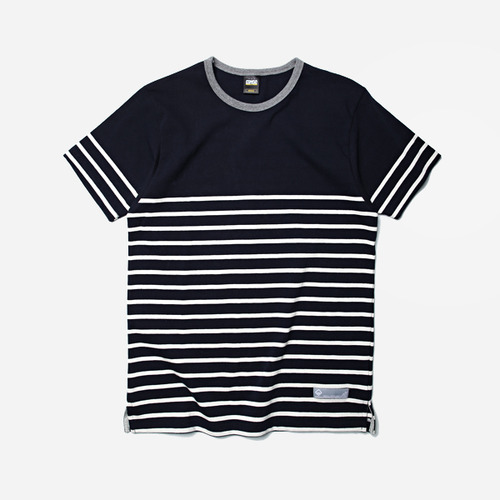 [프리즘웍스]Block stripe tee _ navy/ivory