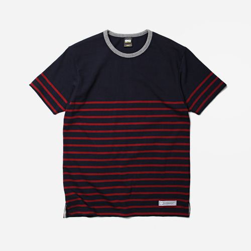[프리즘웍스]Block stripe tee _ navy/wine