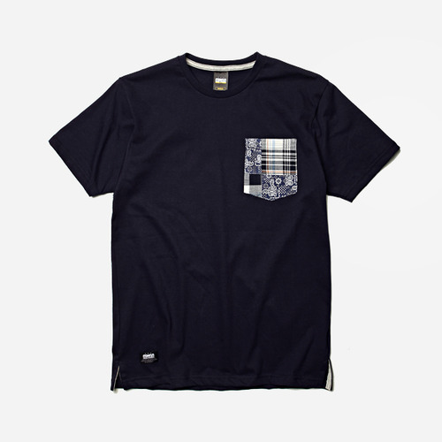 [프리즘웍스]Patchwork pocket t _ navy