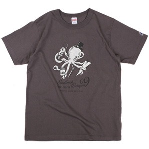 Swellmob octopus nine army t-shirts -charcoal-
