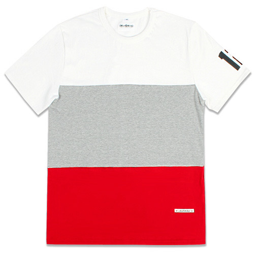 THREE BLOCK TEE Red