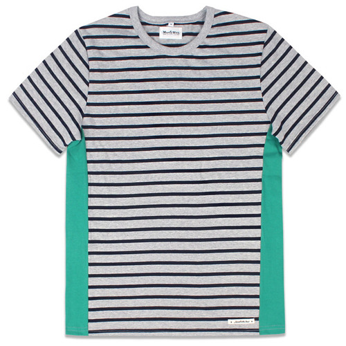 COLORING BOARDER TEE Gray