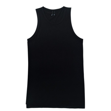 [사파리]P-layer long sleeveless shirt (BK)
