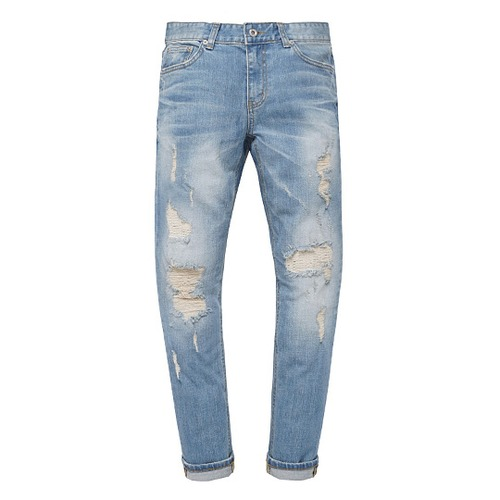 [모디파이드]M#0580 9/10 length distressed jeans