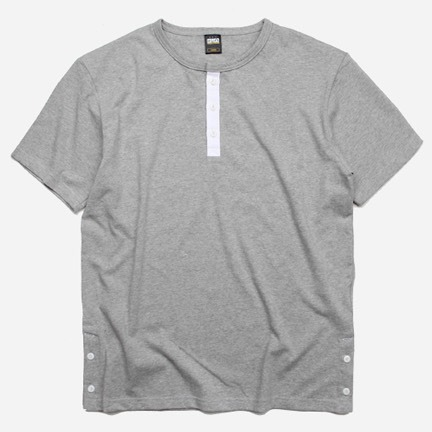 [프리즘웍스]Henley neck tee _ gray